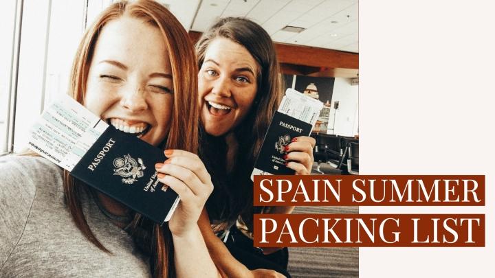 Spain Packing List